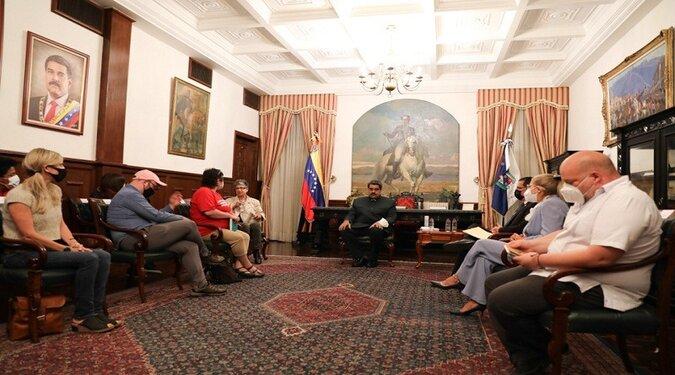DSA Delegation meets President Nicolas Maduro, July 2, 2021. Photo Presidential Press.