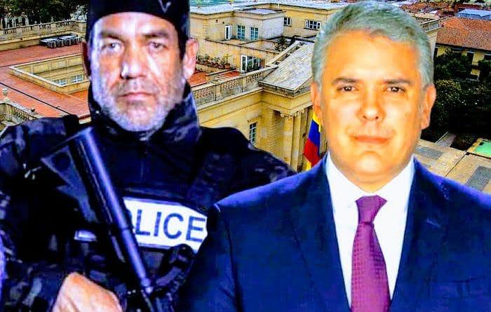Colombia's ruler Ivan Duque next to Tony Intriago the Venezuelan mercenary contractor operating in Florida (US). Photo composition courtesy of Expresa.se.