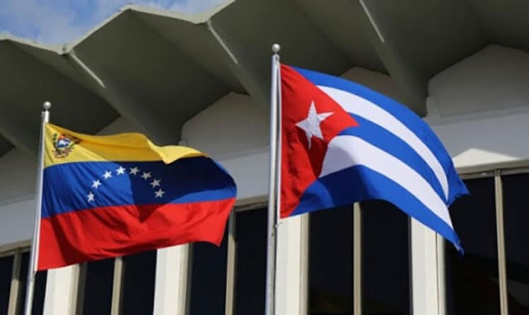 Flags of Cuba and Venezuela. File photo.