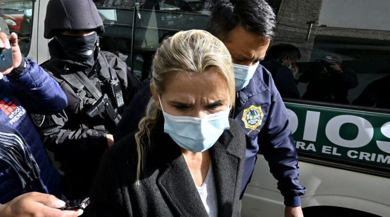 Áñez being charge this week for her responsability in the Senkata and Sacaba massacres among other human rights violations. © AFP 2021 / Aizar Raldes.