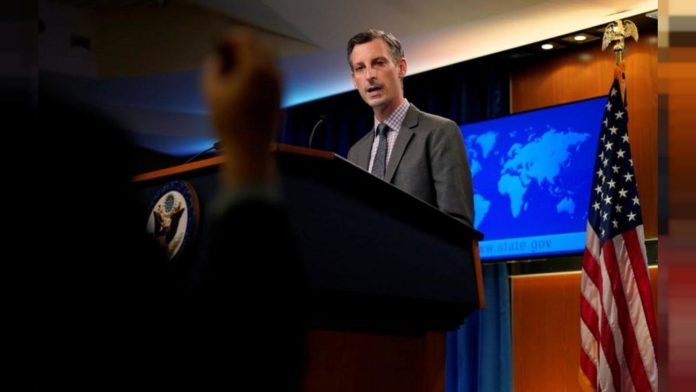 US Department of State spokesperson Ned Price. Photo courtesy of RedRadioVE.
