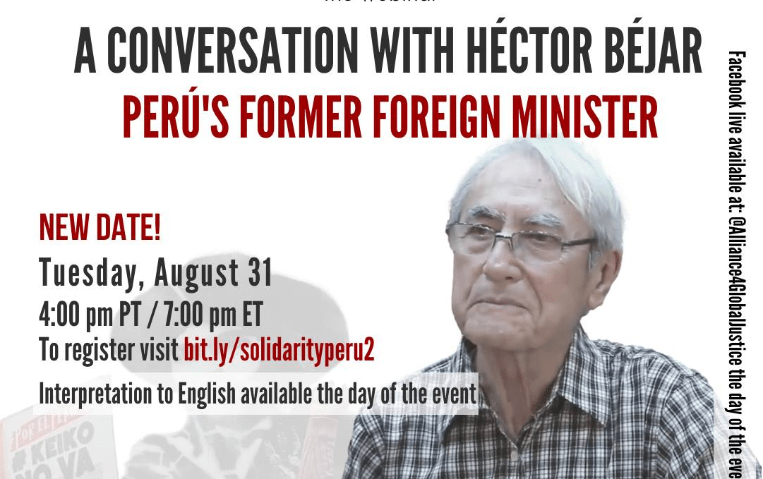 DATE UPDATED: August 31 Webinar with Hector Bejar, Peru's Former Foreign  Affairs Minister (Next Tuesday) | Orinoco Tribune - News and opinion pieces  about Venezuela and beyond