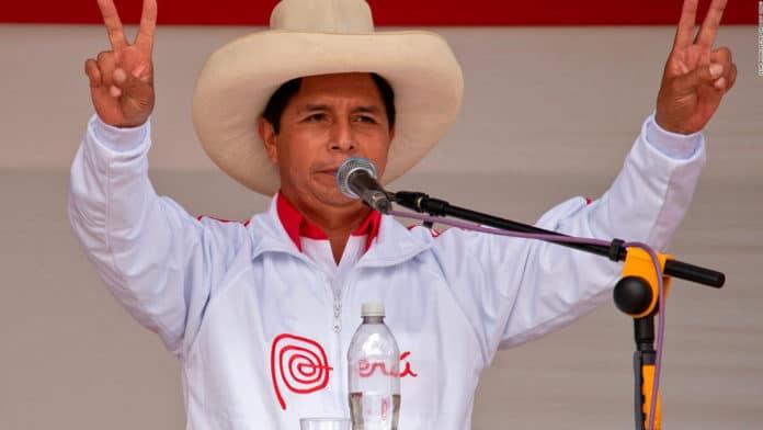 New Peruvian president Pedro Castillo. File photo.