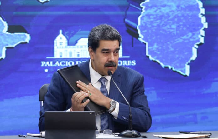 President Nicolas Maduro during a press conference this Monday, August 16. Photo courtesy of Prensa Presidencial.