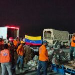 Venezuelan second shipment with 30 tons of humanitarian aid being unload in Haiti. Photo courtesy of the Venezuelan Embassy in Haiti.