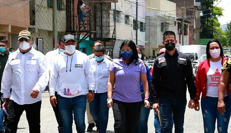 Vice President Delcy Rodriguez at the 23 de Enero neighborhood in Caracas. Photo courtesy of the Office of the Vice President.