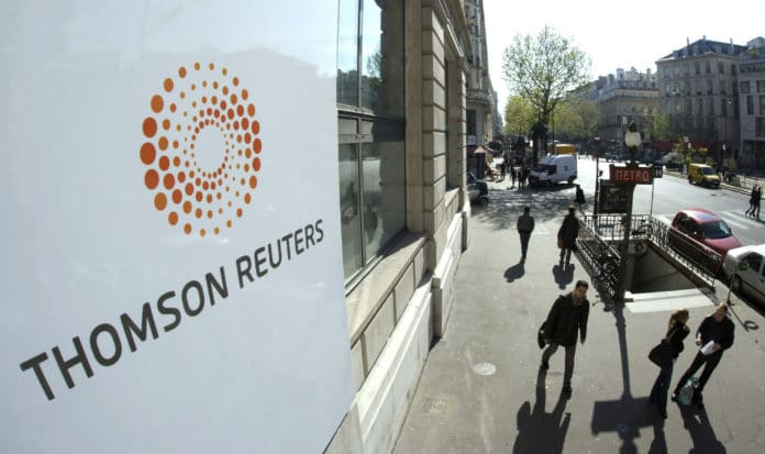 Building with the Thomson Reuters logo. File photo.