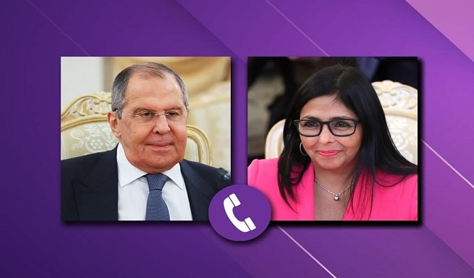 Photo of Venezuelan VP Delcy Rodriguez and Russian Minister for Foreign Affairs Sergey Lavrov. File photo.