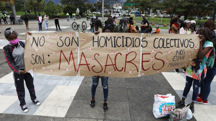 More than 60 massacres registered so far this year in Colombia (Photo: Carlos Ortega / EFE).