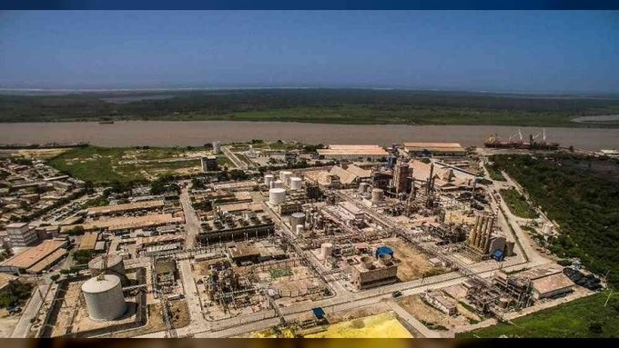 View of main refining facility of Monomeros in Colombia. File photo.