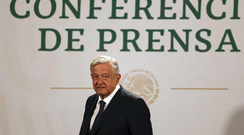 Andres Manuel Lopez Obrador (AMLO) during a press conference. Photo courtesy of AP.