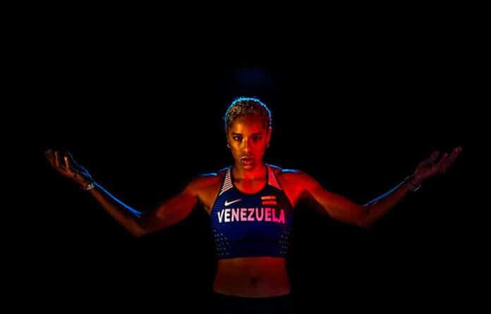 Venezuela's Yulimar Rojar. Olympic Gold medalist and triple jump world record holder.