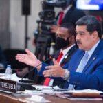President Nicolas Maduro during his speech at the VI CELAC Summit, Mexico city, Saturday, September 18, 2021. Photo courtesy of HispanTV.