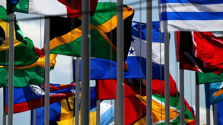 Flags of the member countries of CELAC (Photo: Foreign Ministry of Ecuador).