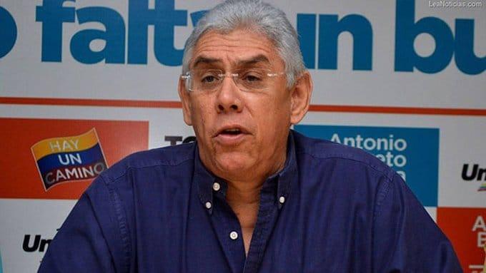 Governor of Anzoategui state, AntonionBarreto Sirá. File photo.
