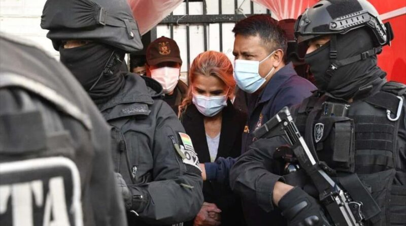 Former Bolivias dictator Jeanine Áñez. Photo courtesy of HispanTV.