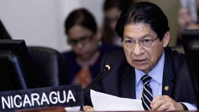 Nicaraguan Minister for Foreign Affairs, Denis Moncada. Photo courtesy of RedRadioVE.