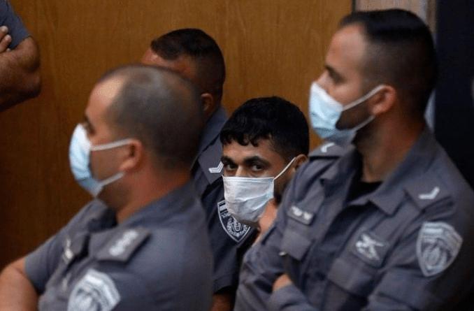 Mohammad Arda appears at an Israeli court in Nazareth. (Photo: via Social Media).