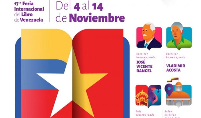 Banner for the 17th edition of the Venezuelan International Book Fair. Photo courtesy of Cenal.