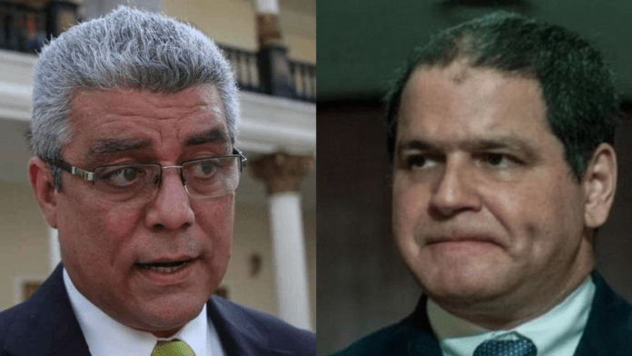 Alfonzo Marquina (left) and Luis Florido (right). Opposition candidates fighting against each other for the Lara state governorship. Photo courtesy of RedRadioVE.