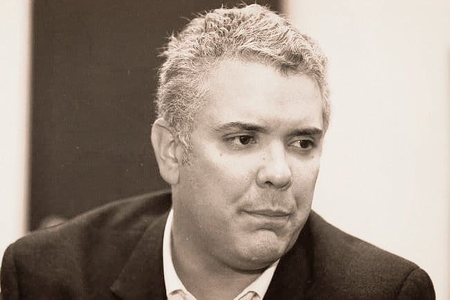 Right wing Colombian president, Ivan Duque. File photo.