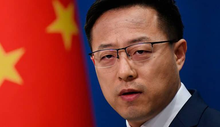 China's foreign affairs ministry spokesperson Zhao Lijian. File photo.