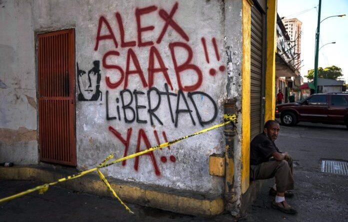 Street painting in Venezuela demanding Alex Saab freedom. File photo.