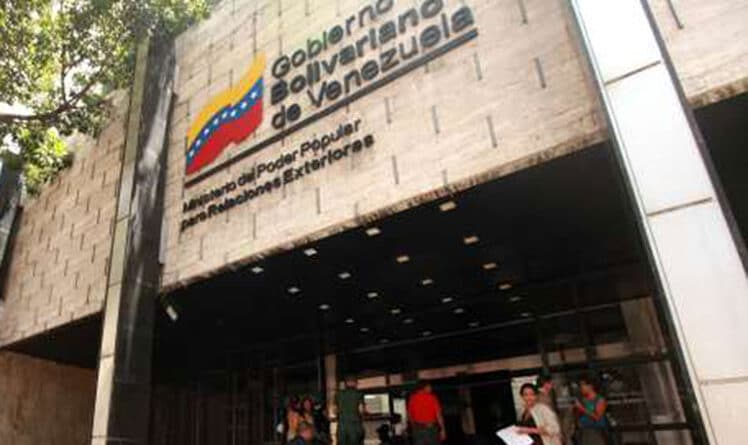 Venezuelan Ministry of Foreign Affairs headquarters. File photo.