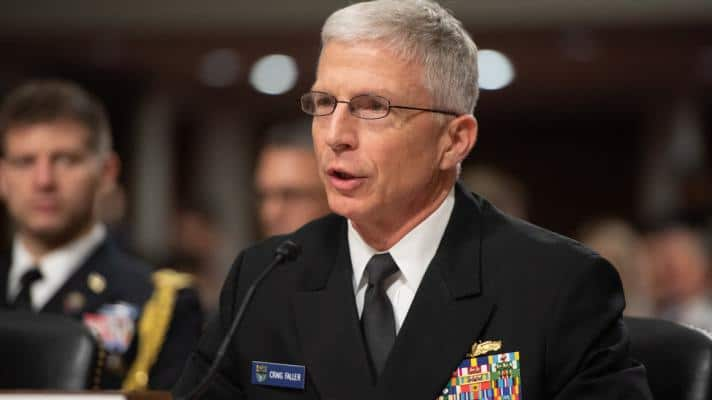 Chief of the Southern Command, Admiral Craig Faller, in Washington, USA (Photo: Saul Loeb / AFP)