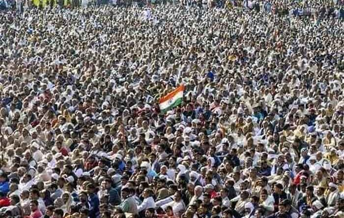 Massive protest in India. File photo.