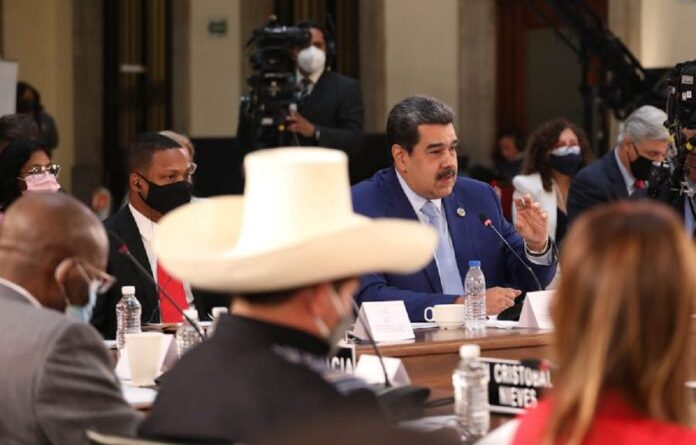 Venezuelan President Nicolas Maduro during his speech in the VI CELAC Summit. Photo courtesy of Twitter.