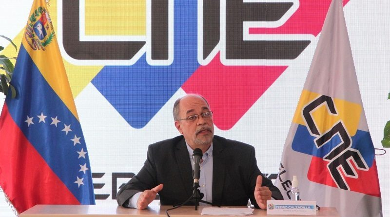 CNE President Pedro Calzadilla. File photo.
