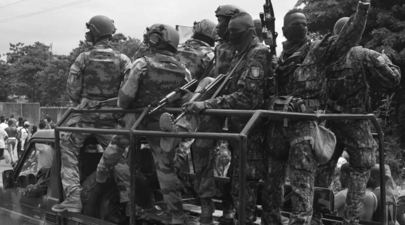 Troops during this month's coup in Guinea, which destroyed the country's hopes of seeing the benefits from China's Belt and Road Initiative.