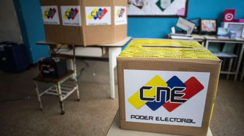 Voting display for Venezuelan elections organized by the CNE. File photo