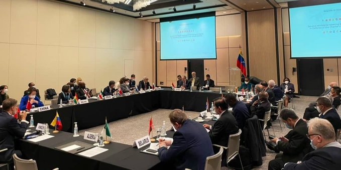 Meeting of the Friends in Defense of UN Charter in Serbia. Photo courtesy of Twitter / @CancilleriaVE.
