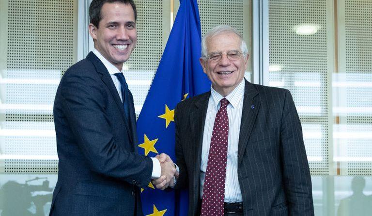 Josep Borrell meeting former Venezuelan deputy Juan Guaido. File photo.