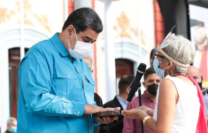 Venezuelan President Nicolas Maduro during a ceremony to honour the Indigenous Resistance Day this Tuesday, October 12, 2021. Photo courtesy of Presidential Press.