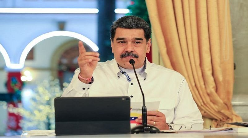 Venezuelan President Nicolas Maduro informing about COVID-19 issues this Friday, October 8. Photo courtesy of VTV.