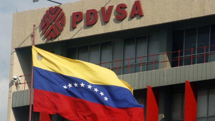PDVSA building with a Venezuelan flag. File photo.