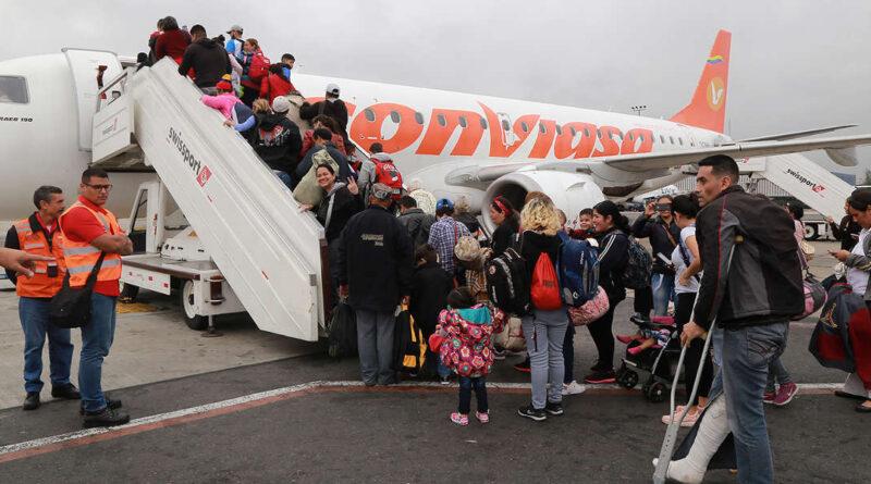 People boarding a Conviasa flight. File referential photo.