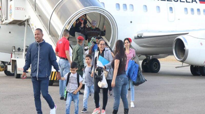 Featured image: Venezuelan migrants returning home for free in a Vuelta a la Patria program flight before COVID-19. File photo.