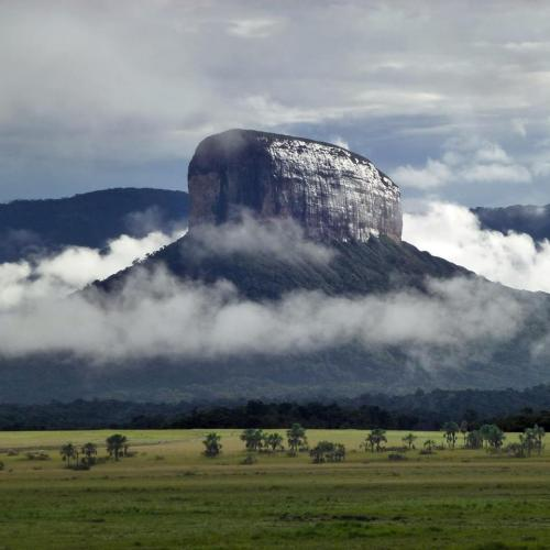 "Tepuy Apauray,  also know as ""La Urna"", near Macizo de Chimantá, in the en National Park Canaima"